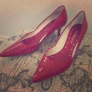Red Enzo Angiolini Pumps